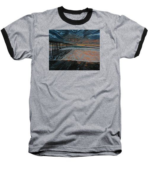North Side Of The Ventura Pier Baseball T-Shirt by Ian Donley