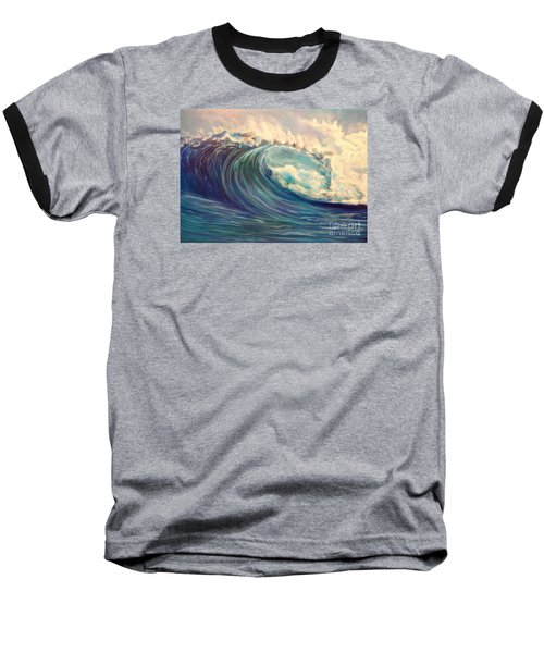 Baseball T-Shirt featuring the painting North Whore Wave by Jenny Lee