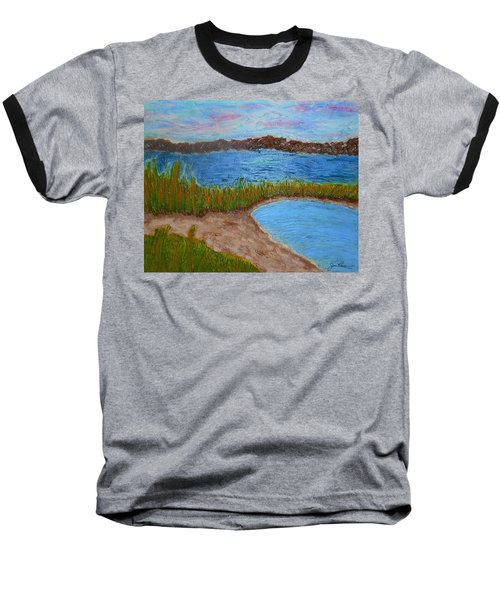 Baseball T-Shirt featuring the painting North Wildwood   New Jersey by Joan Reese