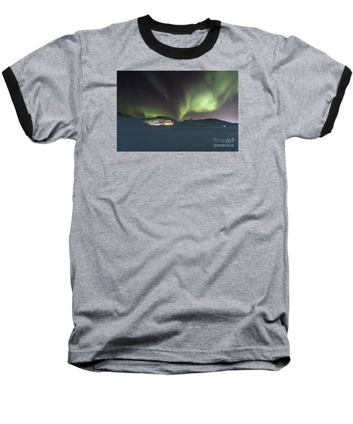 Northern Lights Iceland Baseball T-Shirt