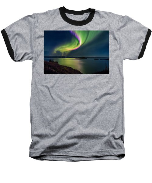 Northern Lights Over Thingvallavatn Or Baseball T-Shirt