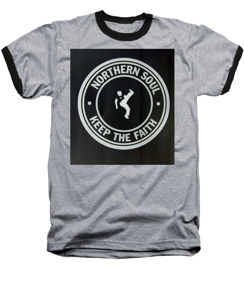 Northern Soul Dancer Inverted Baseball T-Shirt