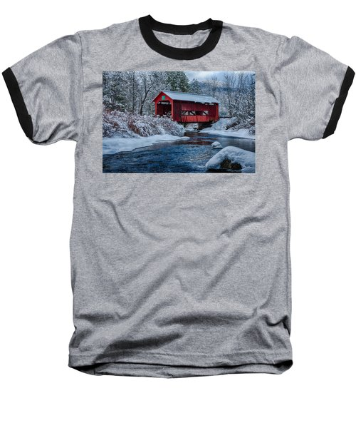 Northfield Vermont Covered Bridge Baseball T-Shirt