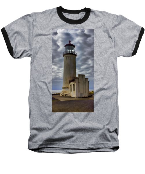 North Head Lighthouse Baseball T-Shirt by Cathy Anderson