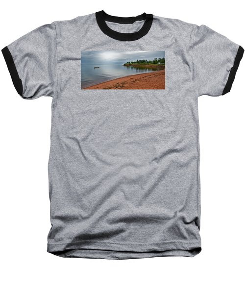 Northumberland Shore Nova Scotia Red Sand Beach Baseball T-Shirt
