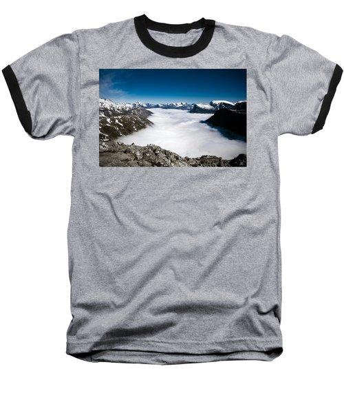 Norway In The Clouds Baseball T-Shirt by Bill Howard