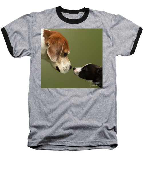 Nose To Nose Dogs 2 Baseball T-Shirt