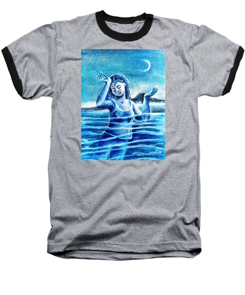 Baseball T-Shirt featuring the painting Not Waving But Drowning by Trudi Doyle