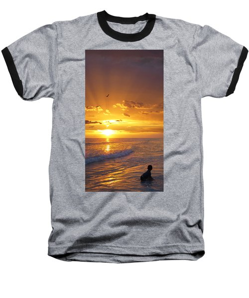 Not Yet - Sunset Art By Sharon Cummings Baseball T-Shirt