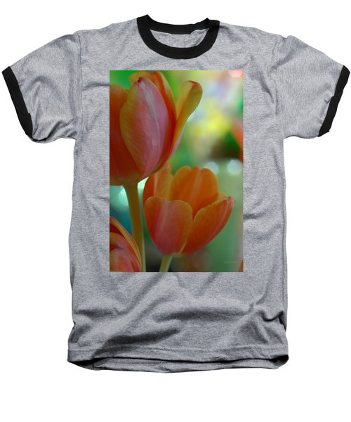 Nothing As Sweet As Your Tulips Baseball T-Shirt by Donna Blackhall