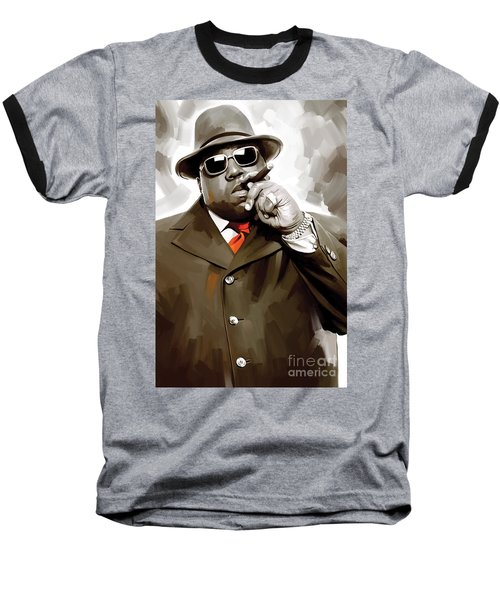 Notorious Big - Biggie Smalls Artwork 3 Baseball T-Shirt