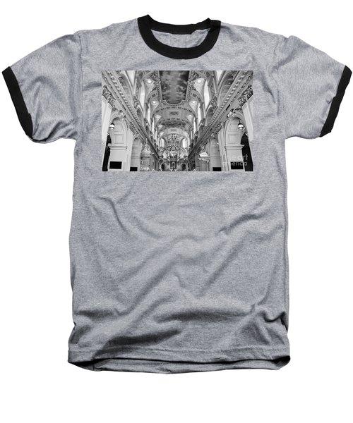 Notre-dame Basilica Baseball T-Shirt by Bianca Nadeau