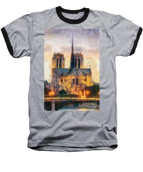Notre Dame De Paris Baseball T-Shirt