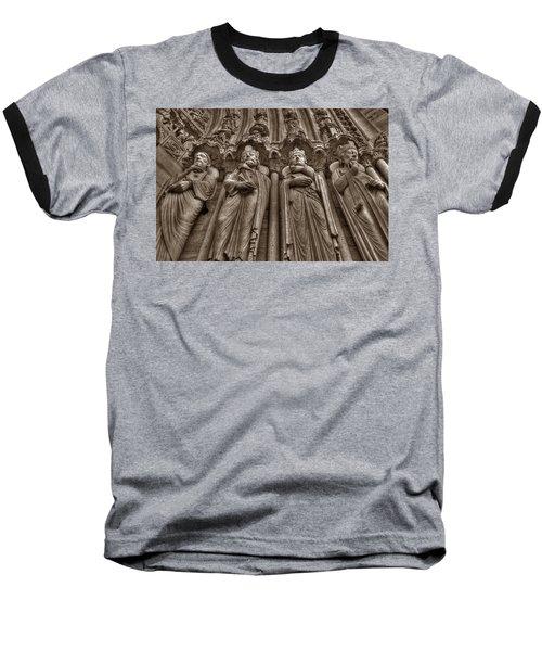 Notre Dame Facade Detail Baseball T-Shirt