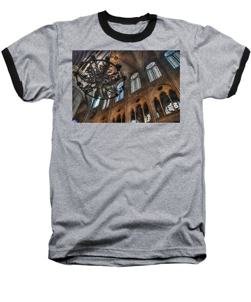 Baseball T-Shirt featuring the photograph Notre Dame Interior by Jennifer Ancker