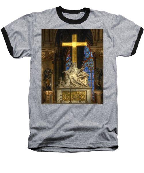 Notre Dame Pieta Baseball T-Shirt
