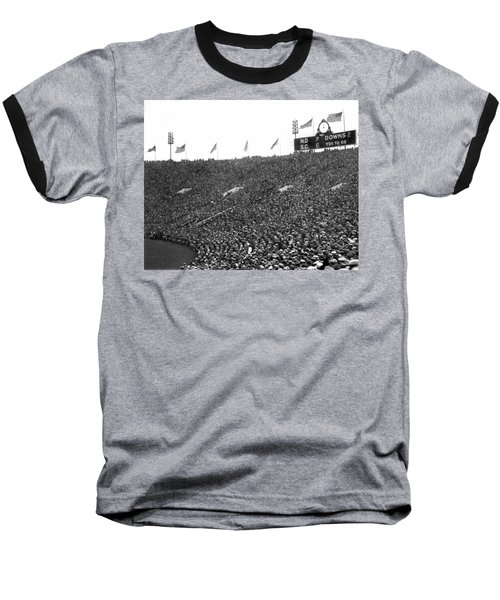 Notre Dame-usc Scoreboard Baseball T-Shirt by Underwood Archives