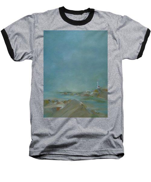 Baseball T-Shirt featuring the painting Nova Scotia Fog by Judith Rhue
