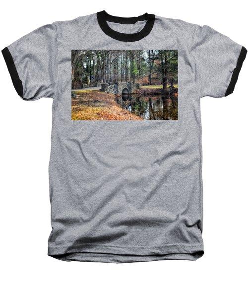 November Reflections Baseball T-Shirt by Tricia Marchlik