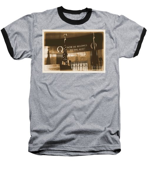 Baseball T-Shirt featuring the photograph Now He Belongs To The Ages by Luther Fine Art