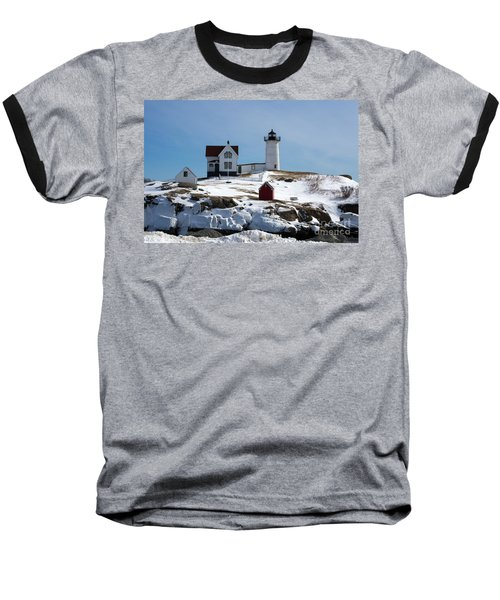 Nubble Light 2 Baseball T-Shirt by Kevin Fortier