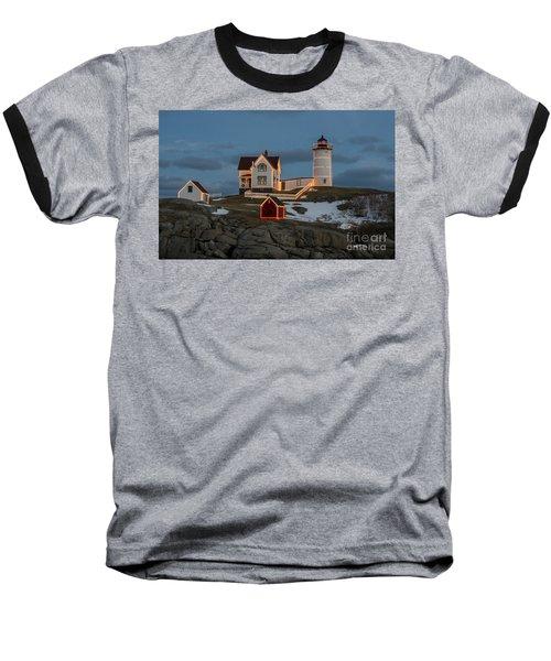 Nubble Lighthouse At Christmas Baseball T-Shirt