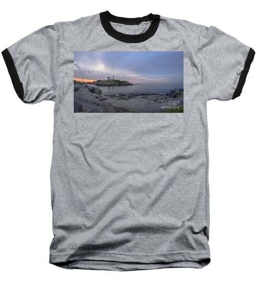 Nubble Lighthouse Baseball T-Shirt