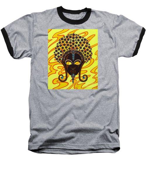 Nubian Modern Afro Mask Baseball T-Shirt