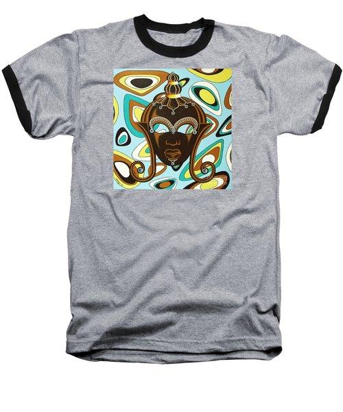 Nubian Modern  Mask Baseball T-Shirt