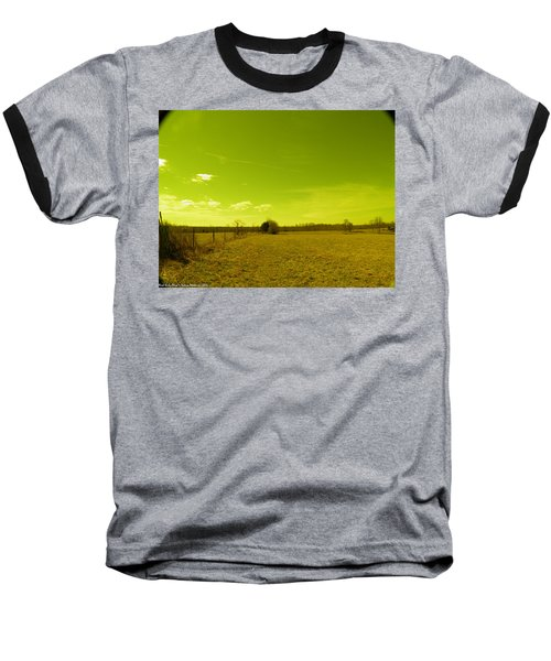 Baseball T-Shirt featuring the photograph Nuclear Fencerow by Nick Kirby