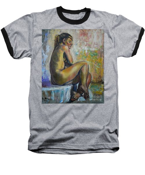 Nude Eva 1 Baseball T-Shirt