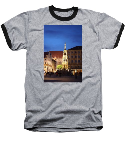 Nuernberg At Night Baseball T-Shirt by Heidi Poulin