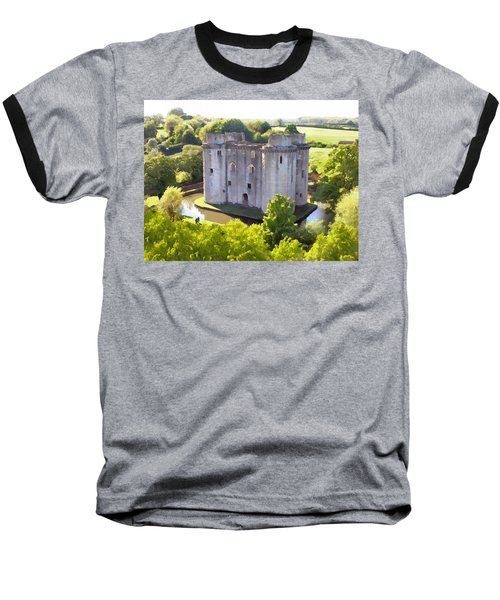 Nunney Castle Painting Baseball T-Shirt