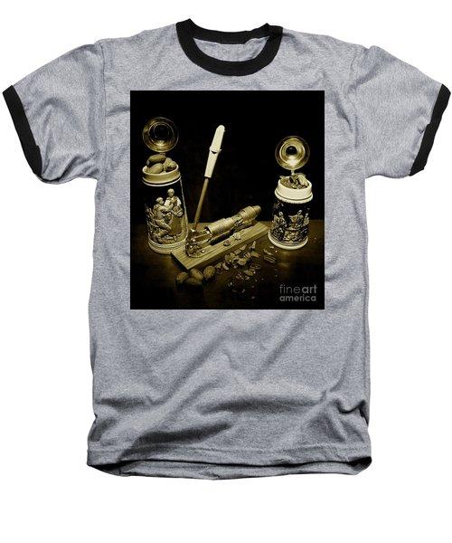 Nut Cracker With Steins Baseball T-Shirt