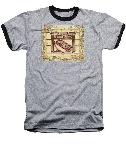 Ny Rangers-1 Baseball T-Shirt by Nina Bradica