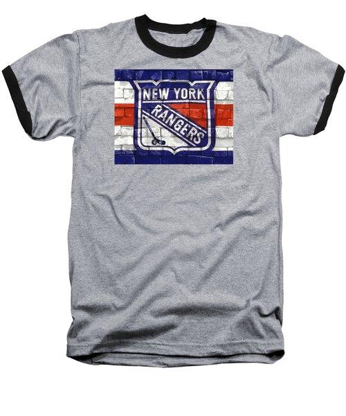 Ny Rangers-2 Baseball T-Shirt by Nina Bradica