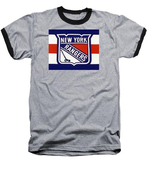 Ny Rangers-7 Baseball T-Shirt by Nina Bradica