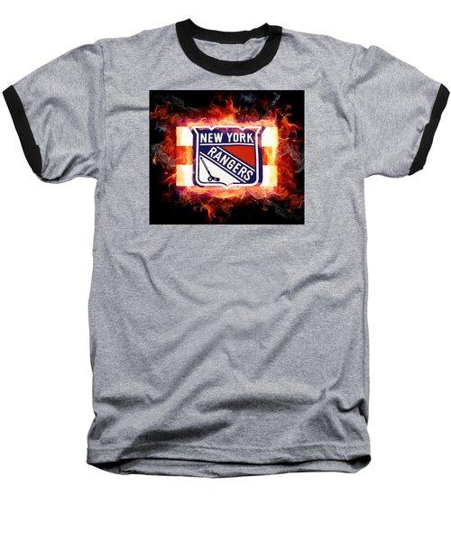 Ny Rangers Are Hot Baseball T-Shirt by Nina Bradica