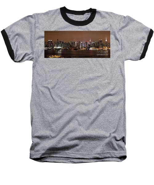 Nyc Skyline Baseball T-Shirt