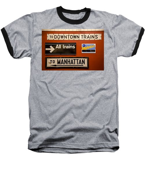 Nyc Subway Signs Baseball T-Shirt