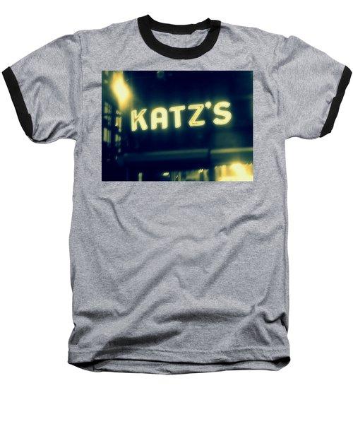 Nyc's Famous Katz's Deli Baseball T-Shirt by Paulo Guimaraes
