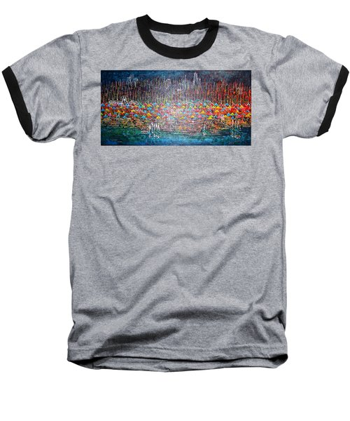 Oak Street Beach Chicago II -sold Baseball T-Shirt by George Riney