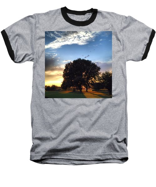 Oak Tree At The Magic Hour Baseball T-Shirt