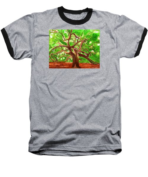 Baseball T-Shirt featuring the painting Oak Tree by Magdalena Frohnsdorff