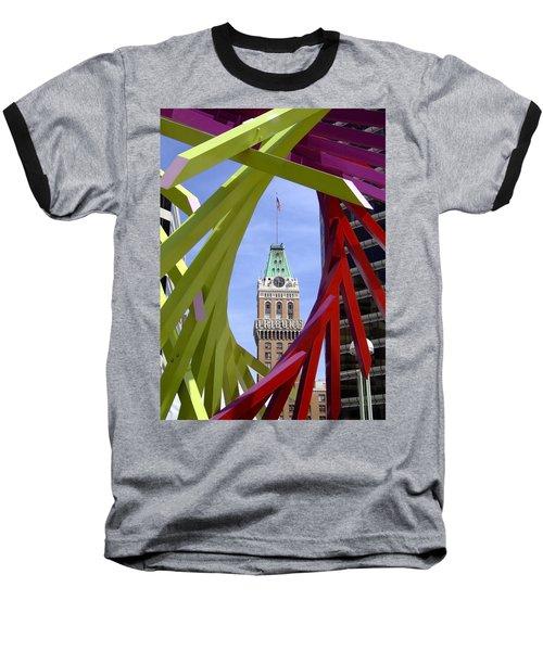Oakland Tribune Baseball T-Shirt by Donna Blackhall