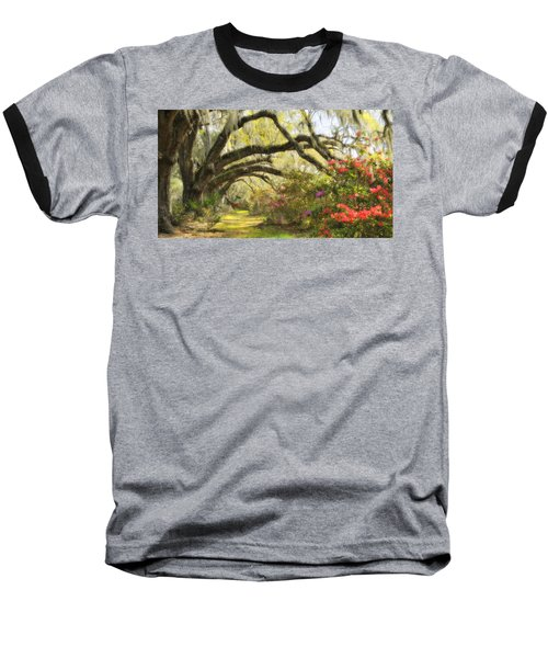 Oaks And Azaleas Baseball T-Shirt