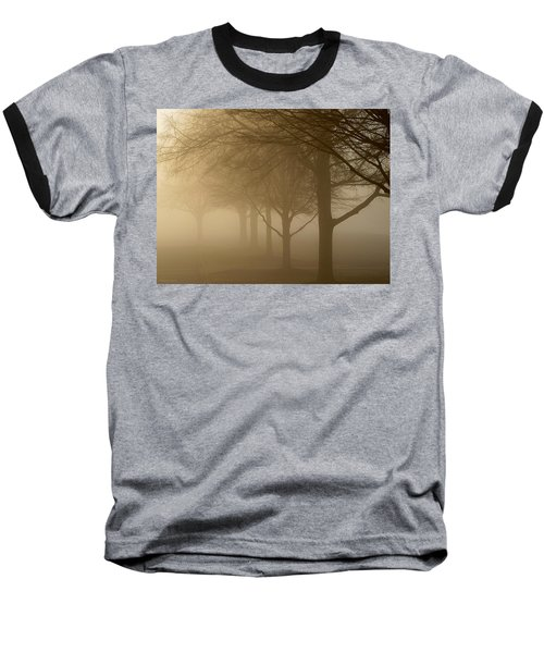 Baseball T-Shirt featuring the photograph Oaks In The Fog by Greg Simmons