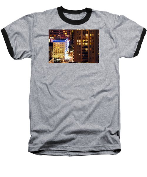 Baseball T-Shirt featuring the photograph Observation - Man In Window Dclxxxi by Amyn Nasser