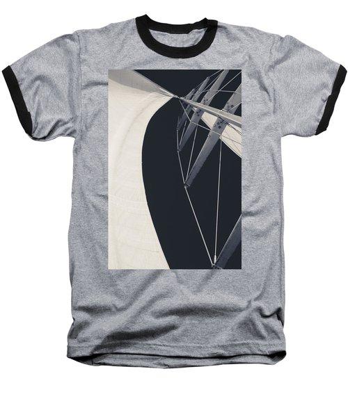 Obsession Sails 9 Black And White Baseball T-Shirt
