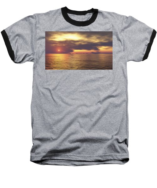 Baseball T-Shirt featuring the digital art Ocean 2 by Mark Greenberg